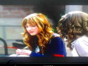 "Screen grab from ""Shake it Up,"" the famous dyslexia scene with friends Cece (Bella Thorne) and Rocky (Zendaya)."