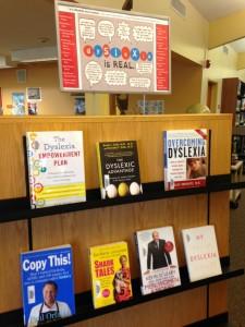 Dyslexia Awareness Month Exhibit at Santa Barbara High School Library