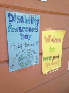 Presenting about dyslexia at Disability Awareness Days, always a great opportunity to meet with students.