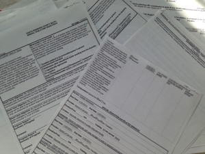 So much paperwork: An IEP with goals, objectives and all kinds of plans for an individualized education program.