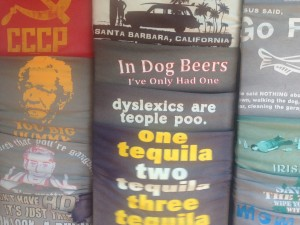 The Offensive Dyslexia T Shirt BEFORE....